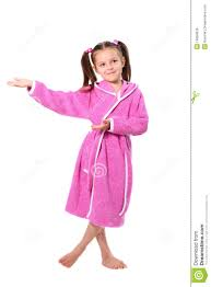 Little In Dressing Gown Royalty Free Stock Images Image