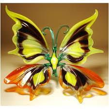 glass butterfly figurines blown glass butterflies butterfly
