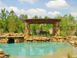 backyard designs with pool and outdoor kitchen houston outdoor kitchens spring photos the woodlands arbor