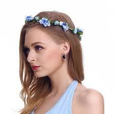 decorative headbands discount artificial flower girl headbands 2018 artificial flower