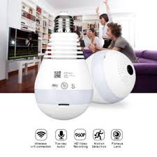 light bulb security system smart 360 wifi ip camera panoramic wireless light bulb mini