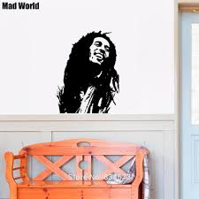mad world bob marley silhouette wall art stickers wall decal home