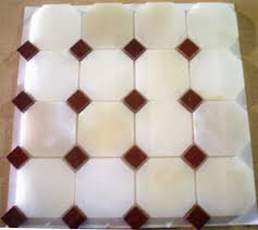 3x3 white polished octagon pattern 3 4 dot onyx mosaic tile