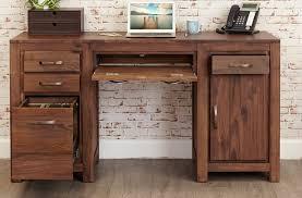 Pedestal Computer Desk Bdi Sequel 60 X 24 Rectangular Walnut Computer Desk