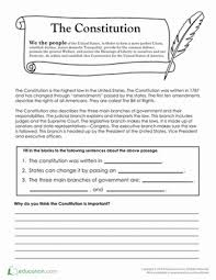 the constitution constitution fourth grade and worksheets