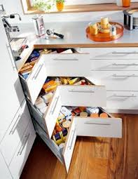 unique kitchen storage ideas how s this for using that corner an alternative to the to