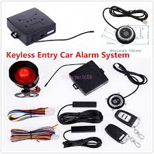 smart pke passive keyless entry car alarm system starter push