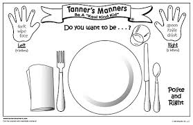 kids placemats s manners cool kid laminated placemat preschool