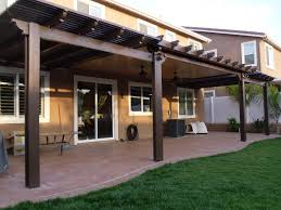 Pergola Shade Covers by Combination Solid And Open Lattice Alumawood Patio Cover Menifee