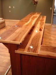 Bar Counter Top Ideas Custom Bar Top Ideas Custom Made Oak Bar With Hickory Counter