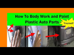 how to body work and paint plastic auto parts yourself sem youtube