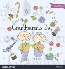 decorative image grandparents household items cartoon stock vector