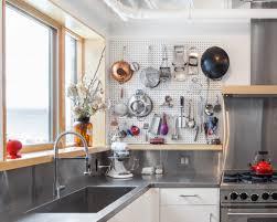 Pegboard Ideas Kitchen Kitchen Industrial Kitchen Ideas With White Pegboard Backsplash