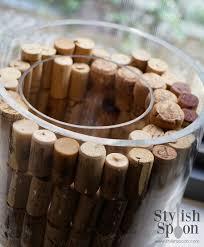 Brown Vase Fillers Diy Wine Cork Vase Filler Stylish Spoon