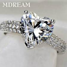 diamond rings aliexpress images Heart diamond ring heart shaped diamond ring finger bling jpg