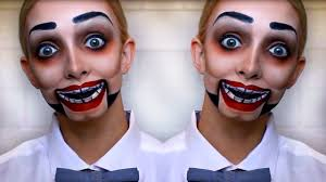 creepy dummy halloween makeup tutorial youtube
