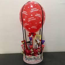 balloon gram hot air balloon bouquet makanan minuman snek paket di carousell