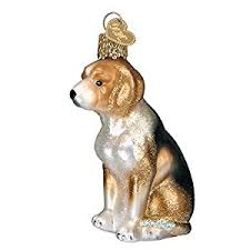 world beagle glass blown ornament home