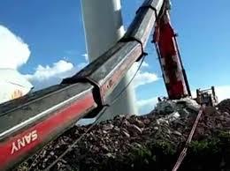 sany scc1020 wind power truck crane accident cranepedia 1