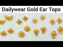 gold ear studs dailywear gold ear tops ear studs designs daily wear earrings