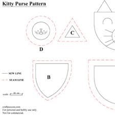 kitty coin purse free sewing pattern u0026 tutorial craft passion