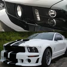 mustang projector headlights 05 09 ford mustang single halo led projector headlights lights black