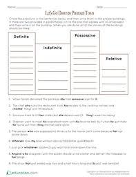 pronouns worksheets education com
