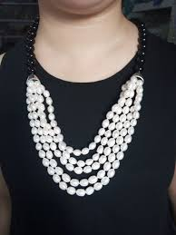 pearl beads necklace images Handmade fresh water pearl necklace with natural rice pearl beads jpg