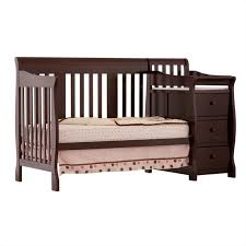Crib And Bed Combo 4 In 1 Crib Changer Combo In Espresso 04586 479