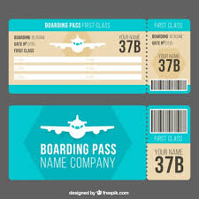 boarding pass template with decorative airplane vector free download
