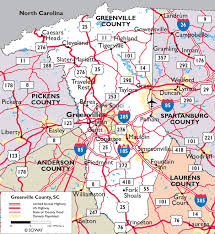 maps of greenville county south carolina