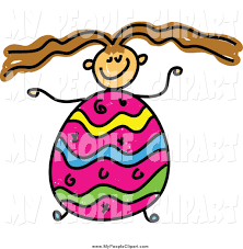 clip art of a brunette with an easter egg body by prawny 47156