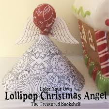 coloring lollipop christmas angel printable
