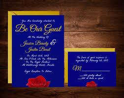 beauty and the beast wedding invitations fairytale wedding