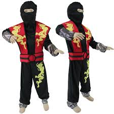 Ninja Halloween Costume Kids Boys Child Anime Ninja Cosplay Costumes Kids Classic Halloween
