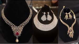 diamond necklace collection images Latest diamond jewellery collection chokers and necklaces jpg
