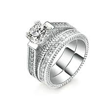 womens wedding ring sets 2pcs womens wedding engagement bands ring sets 18k