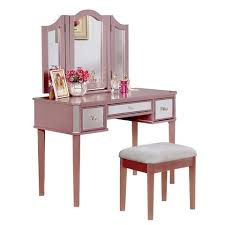 rose gold vanity table pink rose gold vanity treehouse pinterest makeup vanity set