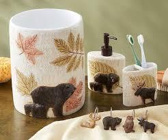 Bear Bathroom Accessories by Grand Tetons Bath Accessories Wild Wings