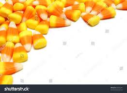 halloween candy corn corner border over stock photo 86292241