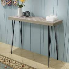 Hairpin Leg Console Table Vintage Console Table Grey Side Table Hairpin Legs Bedroom Hallway