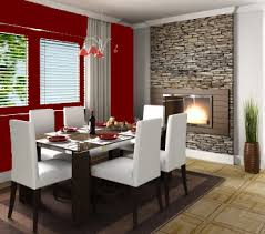 red dinning room interior walls