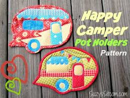 free patterns quilted potholders happy cer quilted pot holders happy cers free pattern and