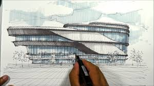 architectural sketching pavillion 1 youtube