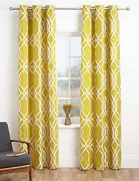 yellow ready made curtains gold u0026 lemon eyelet curtain m u0026s