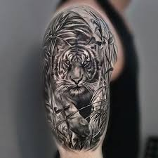 collection of 25 half sleeve tiger tattoos
