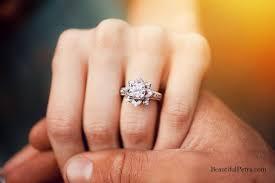 lotus flower engagement ring platinum setting unique flower lotus diamond