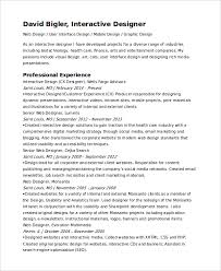 interactive resume interactive resume template 6 free word pdf document downloads