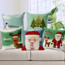 Custom Patio Furniture Cushions by Merry Christmas Custom Cushion Cover Santa Claus Tree Deer Star