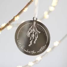mistletoe ornaments by fira studio notonthehighstreet